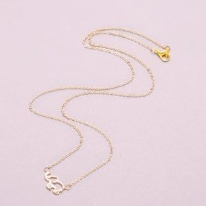 Jewelry - Gold Hollow Elephant Necklace